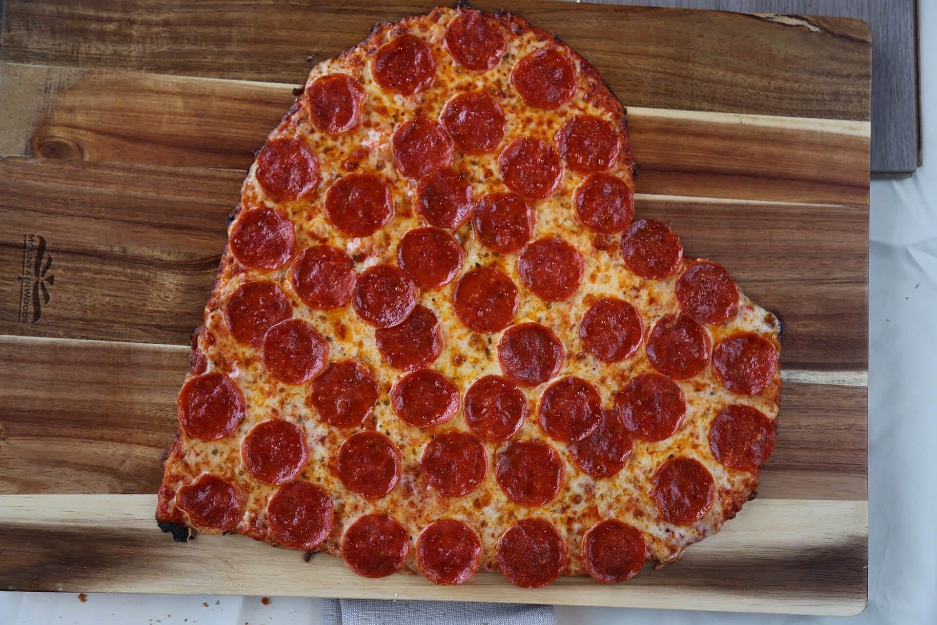 Heart Shaped Pizza - Cassano's - The Pizza King